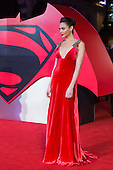 London, UK. 22 March 2016. Israeli actress Gal Gadot who plays Diana Prince/Wonder Woman in the film. Warner Bros. Pictures presents the European Premiere of Batman v Superman, Dawn of Justice. The movie, directed by Zack Snyder, stars Ben Affleck as Batman/Bruce Wayne and Henry Cavill as Superman/Clark Kent in the characters' first big-screen pairing. The movie opens in cinemas on 25 March 2016. © Vibrant Pictures/Alamy Live News