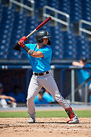 Miami Marlins Will Banfield (26) at bat during an Instructional League game against the Washington Nationals on September 26, 2019 at FITTEAM Ballpark of The Palm Beaches in Palm Beach, Florida.  (Mike Janes/Four Seam Images)