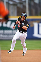 Erie SeaWolves first baseman Dominic Ficociello (25) during a game against the Bowie Baysox on May 12, 2016 at Jerry Uht Park in Erie, Pennsylvania.  Bowie defeated Erie 6-5.  (Mike Janes/Four Seam Images)