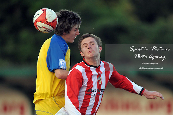 Ross Wall (Hornchurch, right) and Jon Butler (St Albans). AFC Hornchurch Vs St Albans. Capital League. The Stadium. Essex. 06/05/2010. Credit Sportinpictures/Garry Bowden