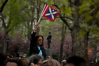 People attend the Persian Day parade in New York, United States. 15/03/2012.  Photo by Eduardo Munoz Alvarez / VIEWpress.