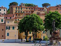 Häuser am Hafen, Rio Marina, Elba, Region Toskana, Provinz Livorno, Italien, Europa<br /> Houses near the port, Rio Marina, Elba, Region Tuscany, Province Livorno, Italy, Europe