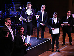 "Tony Yazbeck and cast performing during the MCP Production of ""The Scarlet Pimpernel"" Concert at the David Geffen Hall on February 18, 2019 in New York City."