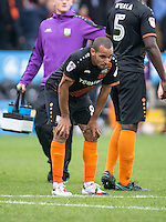 Goal scorer Curtis Weston of Barnet at the final whistle during the EFL Sky Bet League 2 match between Barnet and Colchester United at The Hive, London, England on the 17th September 2016. Photo by Liam McAvoy.