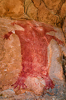 Red antrhopomorth pictograph,  Southern Utah, Location withheld to protect archeology