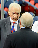 United States Senator Orrin Hatch (Republican of Utah) has a discussion with Karl Rove as he visits the floor of the 2012 Republican National Convention prior to the start of proceedings in Tampa Bay, Florida on Monday, August 27, 2012..Credit: Ron Sachs / CNP.(RESTRICTION: NO New York or New Jersey Newspapers or newspapers within a 75 mile radius of New York City)