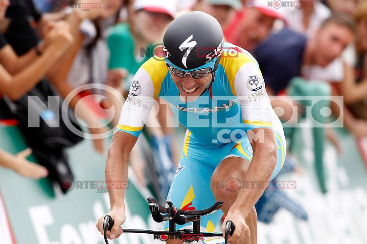 Fredrik Kessiakoff during the stage of La Vuelta 2012 between Cambados and Pontevedra.Individual Time Trials.August 29,2012. (ALTERPHOTOS/Paola Otero) NortePhoto.com<br /> <br /> **CREDITO*OBLIGATORIO** <br /> *No*Venta*A*Terceros*<br /> *No*Sale*So*third*<br /> *** No*Se*Permite*Hacer*Archivo**<br /> *No*Sale*So*third*