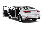 Car images close up view of a 2018 Hyundai Sonata Limited 4 Door Sedan doors