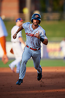 Florida Fire Frogs Brett Langhorne (23) running the bases during a Florida State League game against the St. Lucie Mets on April 12, 2019 at First Data Field in St. Lucie, Florida.  Florida defeated St. Lucie 10-7.  (Mike Janes/Four Seam Images)