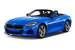 2020 BMW Z4 Base 2 Door Convertible angular front stock photos of front three quarter view