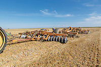 Discing a pressing wheat stubble - Lincolnshire, September