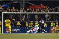 29 MAY 2010:  Galaxy's #17Tristan Bowen scores in the second half of the MLS soccer game between LA Galaxy vs Columbus Crew at Crew Stadium in Columbus, Ohio on May 29, 2010. Galaxy defeated the Crew 2-0.