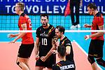 14.09.2019, Paleis 12, BrŸssel / Bruessel<br />Volleyball, Europameisterschaft, Deutschland (GER) vs. Belgien (BEL)<br /><br />Jubel Simon van de Voorde (#10 BEL), Stijn D'hulst (#4 BEL), Hendrik Tuerlinckx (#2 BEL)<br /><br />  Foto © nordphoto / Kurth