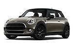 Stock pictures of low aggressive front three quarter view of a 2019 Mini mini Cooper 3 Door Hatchback