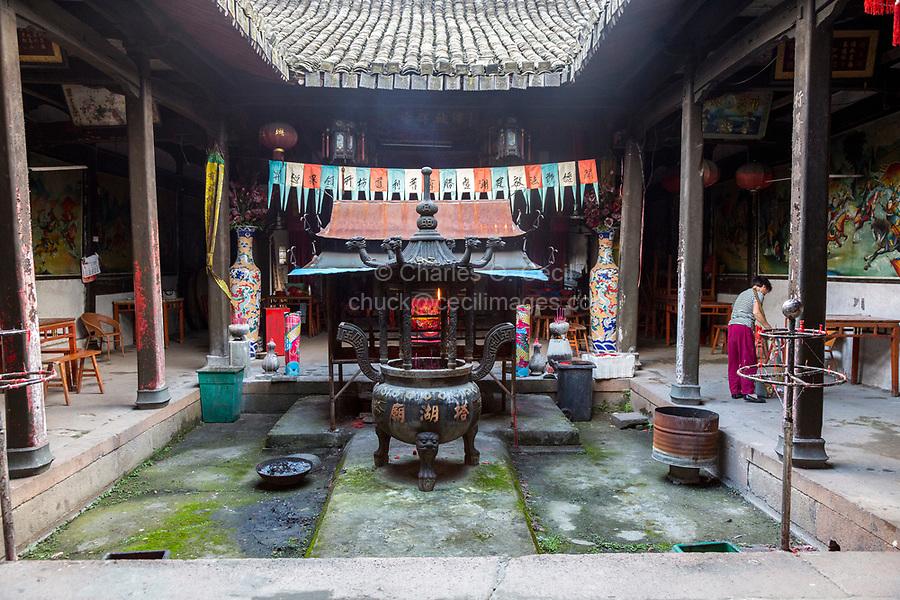 Yantou, Yongjia, Zhejiang, China.  Inner Courtyard of a Buddhist temple.