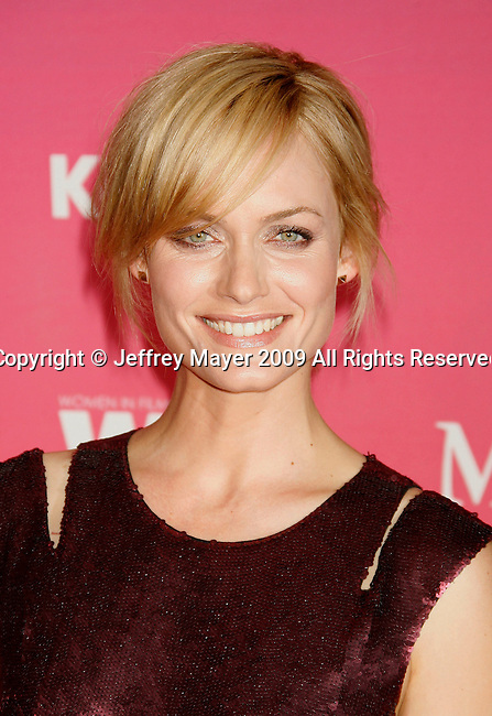 CENTURY CITY, CA. - June 12: Amber Valletta arrives at Women In Film's 2009 Crystal + Lucy Awards held at the Hyatt Regency Century Plaza on June 12, 2009 in Century City, California.