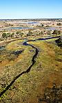 aerial of the OKAVANGO flood plain
