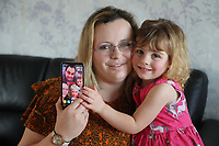BNPS.co.uk (01202 558833)<br /> Pic: CorinMesser/BNPS<br /> <br /> Sophia(2) with her mum Samantha.