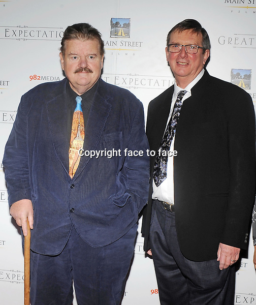Robbie Coltrane,Mike Newell attends premiere of Great Expectations in New York City on Novemebr 5, 2013.<br />