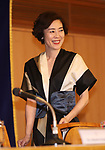"April 26, 2018, Tokyo, Japan - Japanese actress Shinobu Terajima arrives at a press conference for her movie ""OH LUCY!"" at the Foreign Correspondents' Club of Japan in Tokyo on Thursday, April 26, 2018. The movie will be screening in Japan from April 28.   (Photo by Yoshio Tsunoda/AFLO) LWX -ytd-"