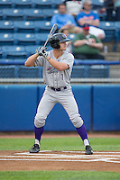 Adam Engel (7) of the Winston-Salem Dash at bat against the Salem Red Sox at LewisGale Field at Salem Memorial Ballpark on May 14, 2015 in Salem, Virginia.  The Red Sox defeated the Dash 1-0.  (Brian Westerholt/Four Seam Images)