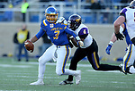 BROOKINGS, SD - DECEMBER 2: Taryn Christion # 3 from South Dakota State is brought down by Keelon Brookins #4 from Northern Iowa during their FCS Division 1 playoff game Saturday afternoon at Dana J. Dykhouse Stadium in Brookings, SD. (Photo by Dave Eggen/Inertia)