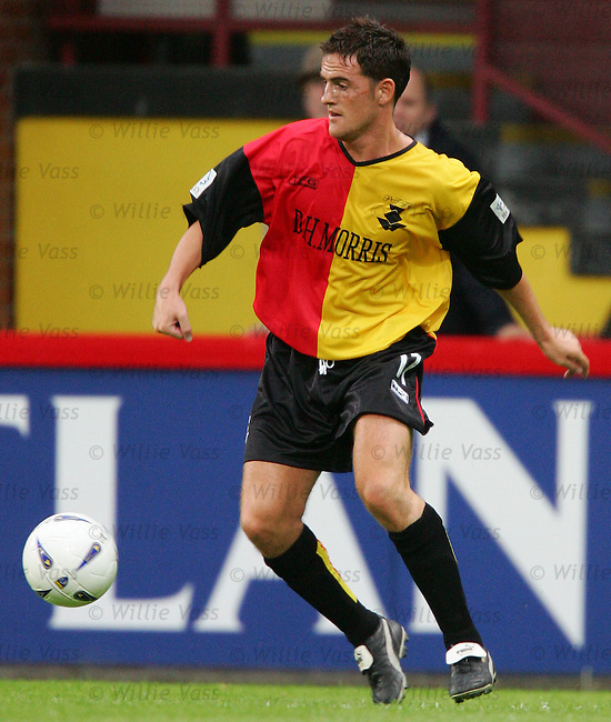 Andy Gibson, Partick Thistle.stock season 2004-2005.pic willie vass