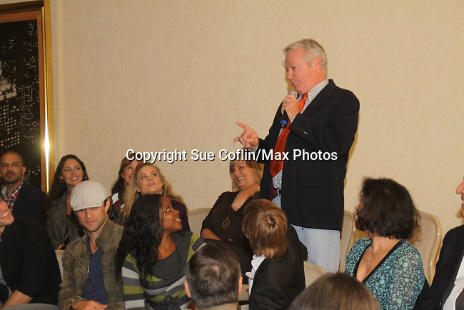 Jerry verDorn speaking to fans at The One Life To Live Lucheon at the Hemsley Hotel in New York City, New York on October 9, 2010. (Photo by Sue Coflin/Max Photos)