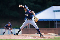 Rome Braves relief pitcher Alec Grosser (30) in action against the Asheville Tourists at McCormick Field on July 26, 2015 in Asheville, North Carolina.  The Tourists defeated the Braves 16-4.  (Brian Westerholt/Four Seam Images)