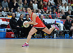 Wales Suzy Drane (Capt) in action during todays match   <br /> <br /> Swansea University International Netball Test Series: Wales v New Zealand<br /> Ice Arena Wales<br /> 08.02.17<br /> &copy;Ian Cook - Sportingwales