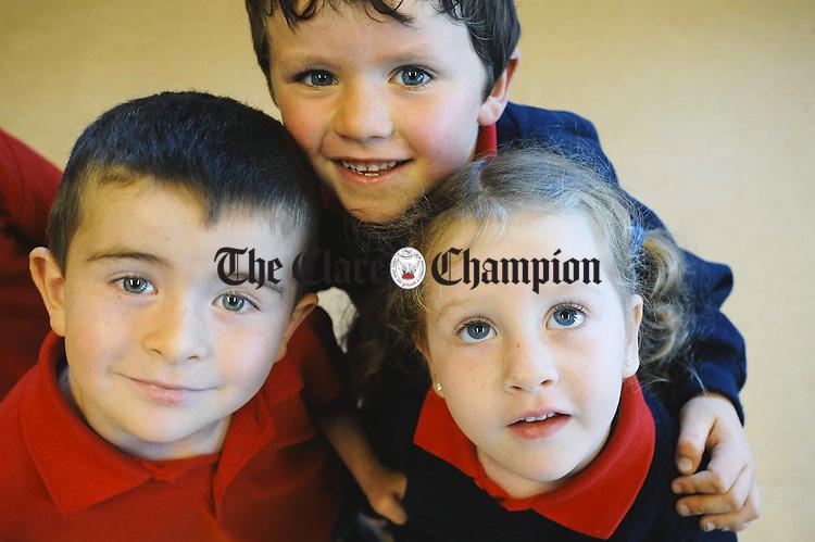 Sean Hayes, Euan Lineen and Alannah Hayes at Rineen NS. Photograph by John Kelly.
