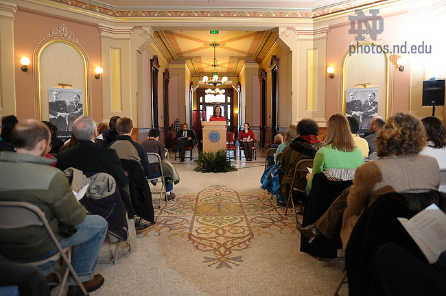 MLK Day ceremony in the Main Building Rotunda..Photo by Matt Cashore/University of Notre Dame