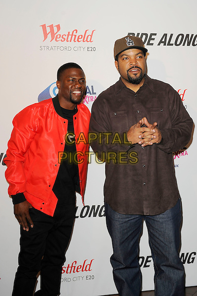 LONDON, ENGLAND - February 27: Kevin Hart and Ice Cube(O'Shea Jackson) attend the UK Premiere of 'Ride Along' at Vue Cinema, Westfield Stratford City on February 27, 2014 in London, England<br /> CAP/MAR<br /> &copy; Martin Harris/Capital Pictures