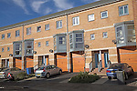 Modern terraced housing. Urban redevelopment of docks, Ipswich Wet Dock, Suffolk, England