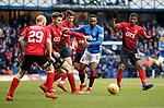 16.03.2019 Rangers v Kilmarnock: Jermain Defoe crowded out