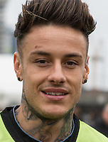 CHET JOHNSON (MTV'S EX ON THE BEACH) during the SOCCER SIX Celebrity Football Event at the Queen Elizabeth Olympic Park, London, England on 26 March 2016. Photo by Kevin Prescod.