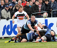 Bedford, England. Phil Boulton of Bedford Blues in action during The Championship Bedford Blues vs Newcastle Falcons at Goldington Road  Bedford, England on November 3, 2012
