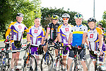 l-r  Pat Keohane, Brendan Kelly, John O'Neill, Tom O'Sullivan, Pat O'Sullivan and Jennifer Crowley. at the Finuge Freewheelers  Ring of North Kerry 2016 Cycle on Saturday
