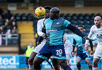 Adebayo Akinfenwa of Wycombe Wanderers during the Sky Bet League 2 match between Wycombe Wanderers and Luton Town at Adams Park, High Wycombe, England on the 21st January 2017. Photo by Liam McAvoy.