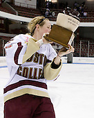 Shannon Webster (Boston College - 12) - The Boston College Eagles defeated the Harvard University Crimson 1-0 to win the Beanpot on Tuesday, February 10, 2009, at Matthews Arena in Boston, Massachusetts.