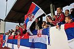 02.06.2010, Kufstein Arena, Kufstein, AUT, FIFA Worldcup Vorbereitung, Testspiel Serbien (SRB) vs Polen (POL), im Bild serbische Fans.  Foto: nph /  J. Groder