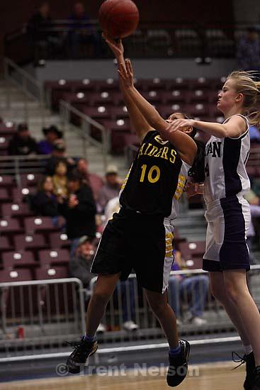 Whitehorse high school girls basketball vs. Meridian, playoffs. 2.15.2006<br />