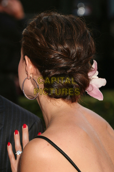 ASHLEY JUDD.2007 ESPY Awards - Arrivals at the Kodak Theatre, Hollywood, California, USA..July 11th, 2007.headshot portrait hoop earring flower in hair back behind.CAP/ADM/BP.©Byron Purvis/AdMedia/Capital Pictures