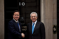 David Cameron (British Prime Minister) and Mario Monti (Italian Prime Minister) - 2012<br />
