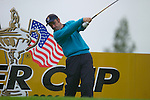 Paul McGinley during Practice Day at the 2006 Ryder Cup at The K Club 20th September 2006..Photo: Eoin Clarke/Newsfile.