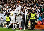 Real Madrid CF's Vinicius Jr celebrates after scoring a goal during La Liga match. Mar 01, 2020. (ALTERPHOTOS/Manu R.B.)