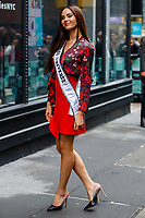 NOVA YORK,USA, 08.01.2019 - CELEBRIDADE-USA - Catriona Gray Miss Universo da Filipinas é vista no bairro do Soho em Manhattan, New York nesta terça-feira, 08. (Foto: William Volcov/Brazil Photo Press)