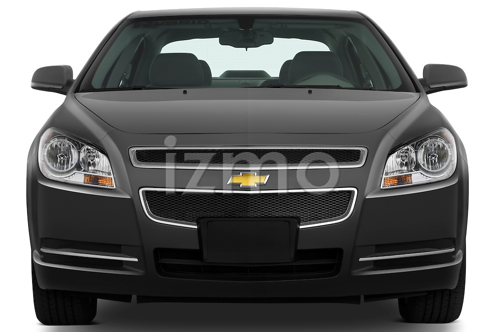 Straight front view of a 2009 Chevrolet Malibu Hybrid
