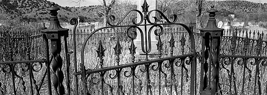 Iron fence in Eureka graveyard<br />