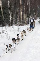 Bill Pinkham w/Iditarider on Trail 2005 Iditarod Ceremonial Start near Campbell Airstrip Alaska SC